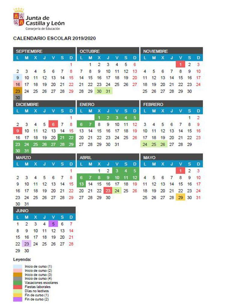 Calendario Castilla y León