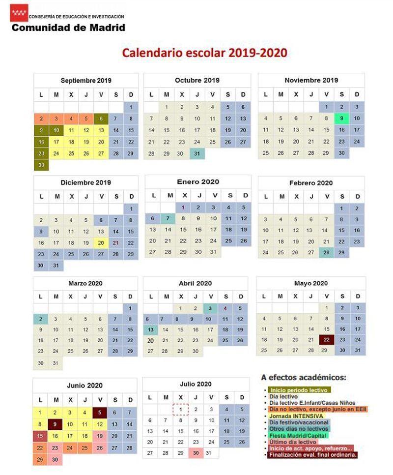 Calendario Madrid