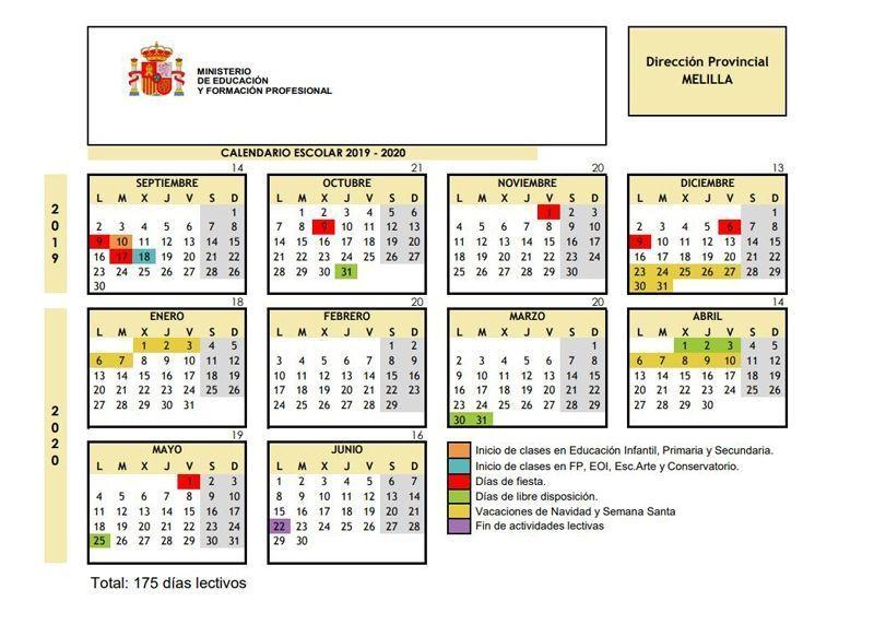 Calendario Escolar 18 19 Cantabria.Calendario Escolar 2019 2020 Por Comunidades Y Ciudades