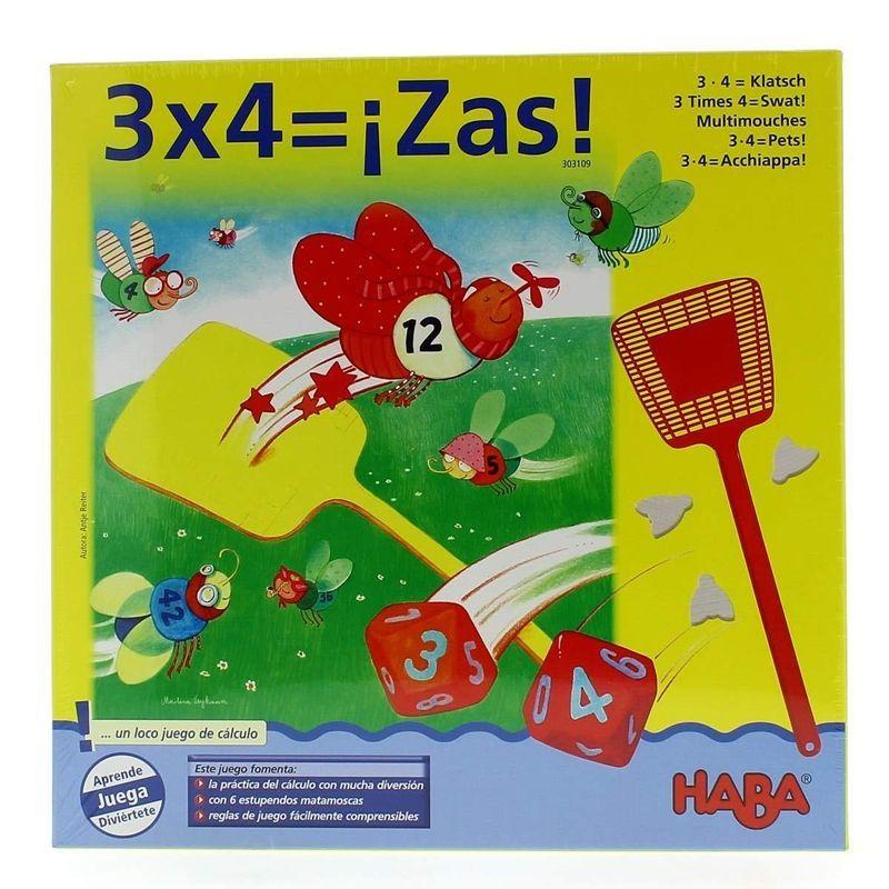 HABA- 3 x 4 = ¡Zas! juegos de mesa de lógica