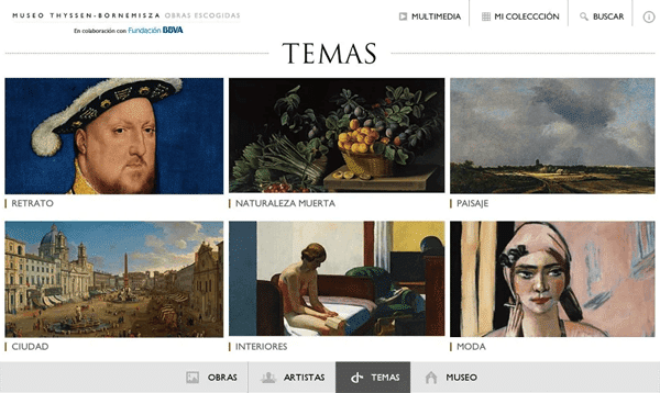 thyssen apps visita museos