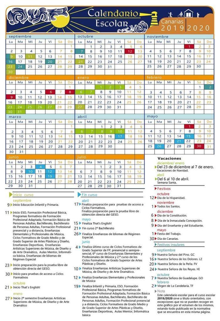 Calendario Escolar Galicia 2020 Y 2019.Calendario Escolar 2019 2020 Por Comunidades Y Ciudades Autonomas