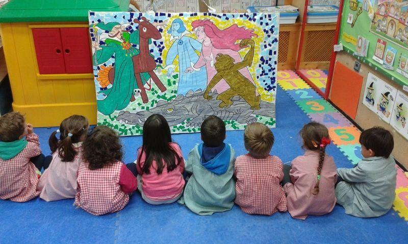 Mosaico El Quijote Cervantes