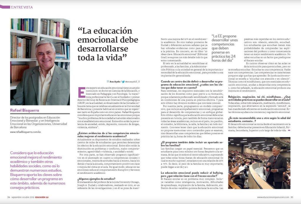 Rafael Bisquerra entrevista