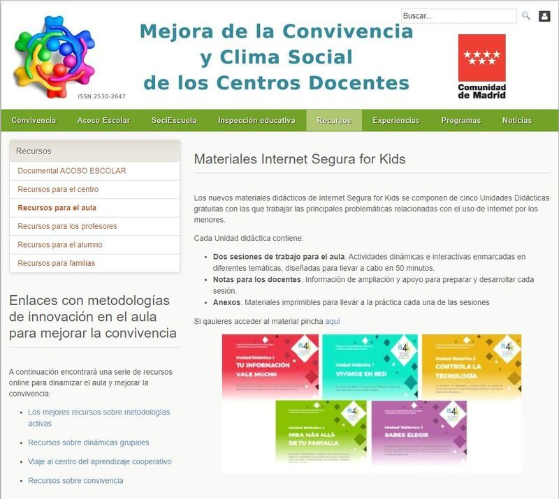 Comunidad de Madrid-plan tutorías Infantil