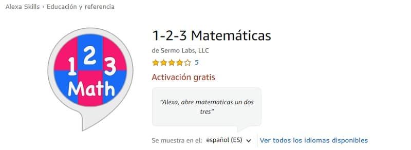 1-2-3 Matemáticas