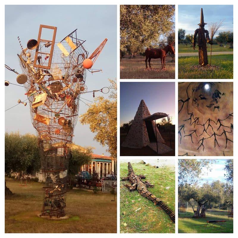 Bravo por el Reciclaje parque esculturas recicladas