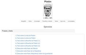 Ejercicios sobre Platón