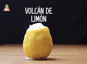 Volcán de limón experimentos para hacer en clase