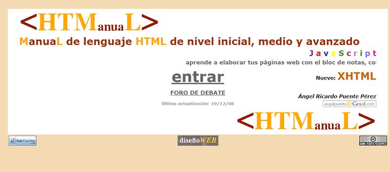 Manual HTML: recursos para clase de Tecnología