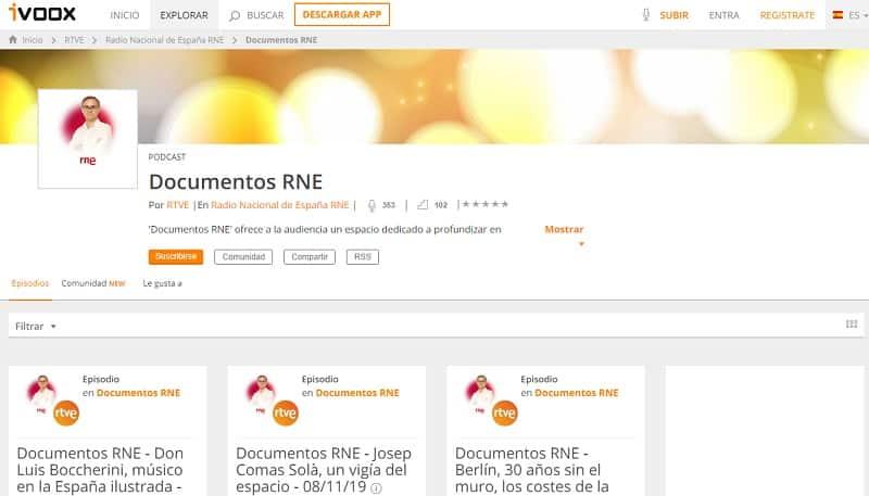 Documentales RNE