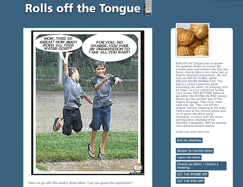Rolls of the toungue