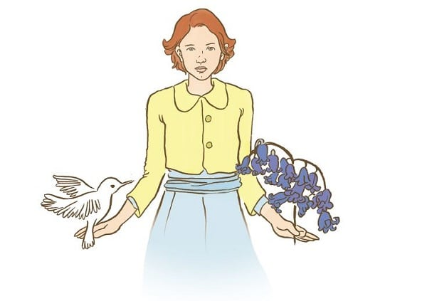Ilustración de la novela gráfica 'Pájaro Blanco'
