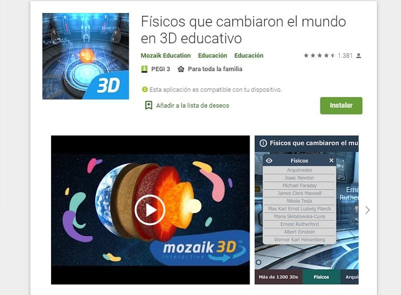 Físicos que cambiaron el mundo (Apps para aprender con la realidad virtual)