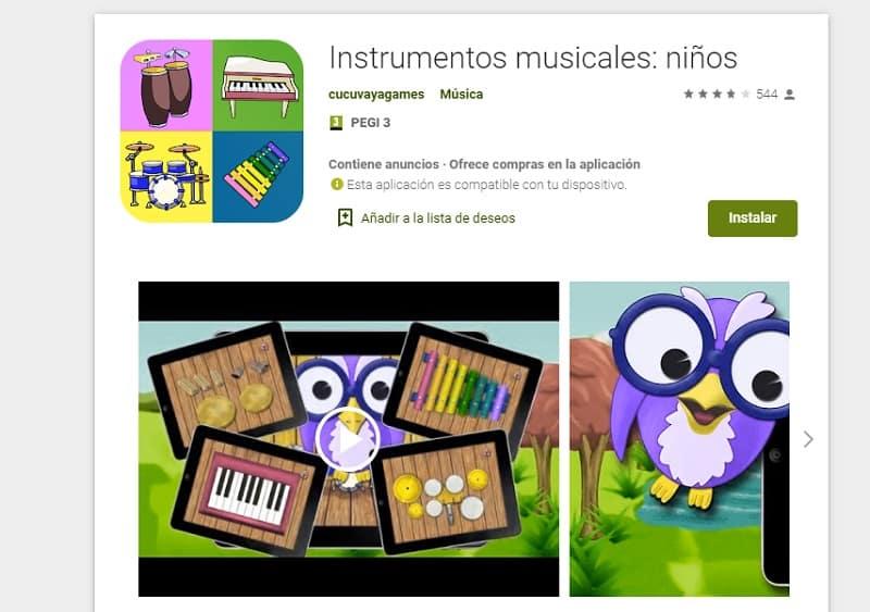 Instrumentos musicales para niños (recursos)
