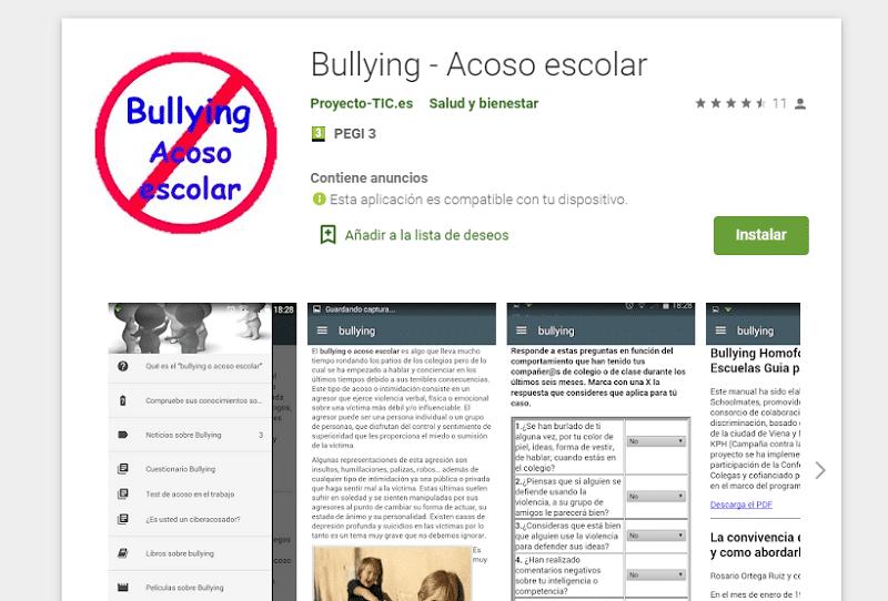 App 'Acoso escolar'