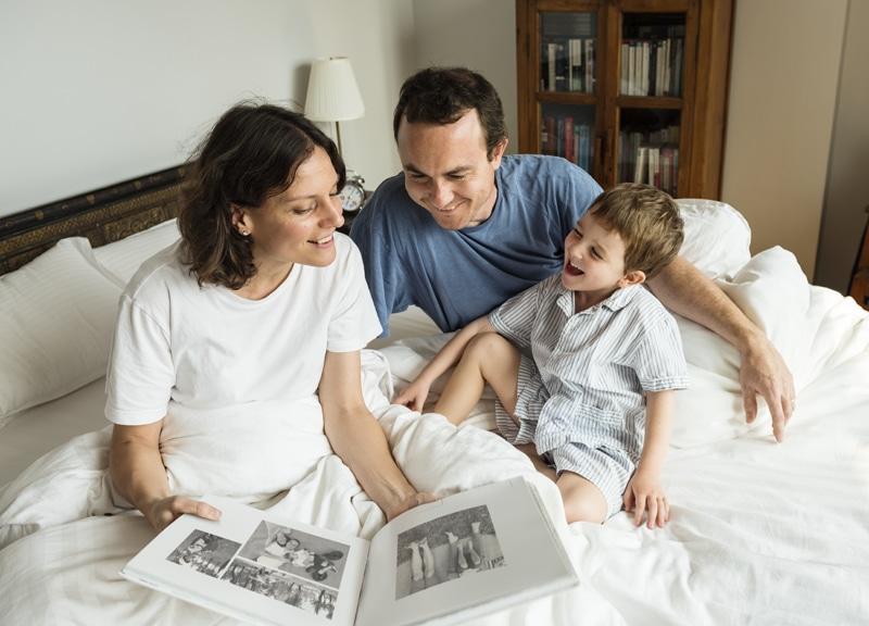 Realizar un árbol genealógico con las fotografías familiares