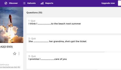 enseñar inglés con Kahoot