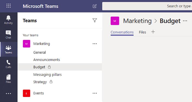 canales privados en Microsoft Teams