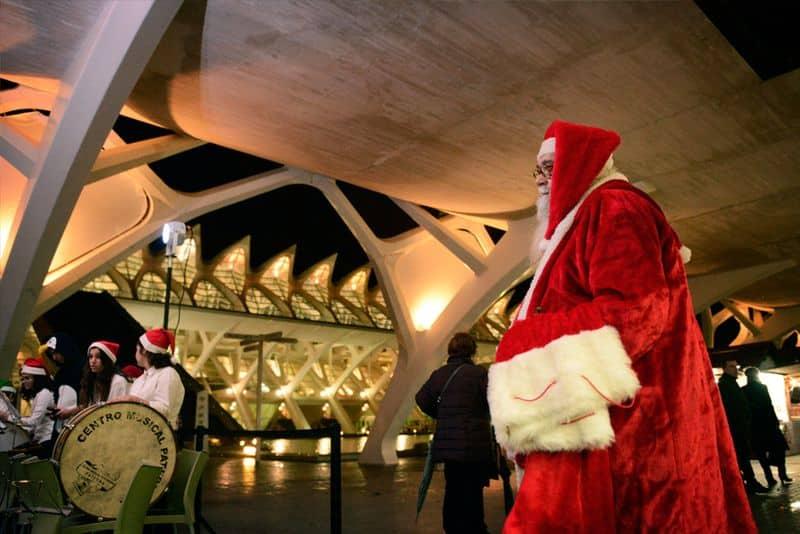 Mercado navideño en la Ciudad de las Artes y las Ciencias de Valencia
