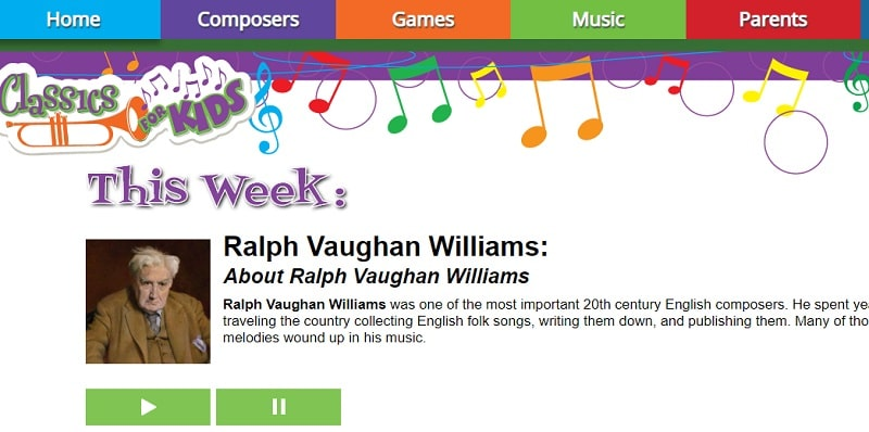 Classics For Kids recursos musicales inglés