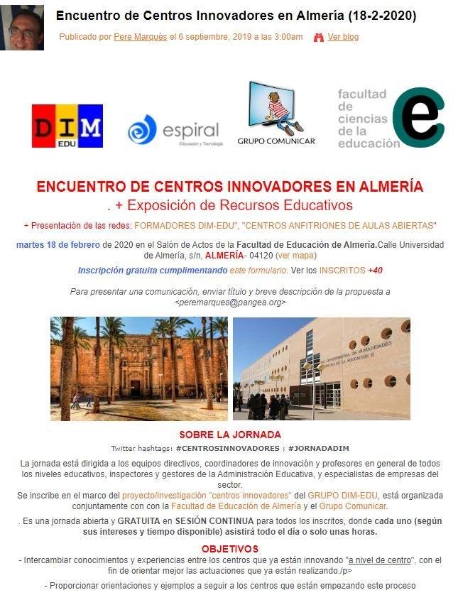 Encuentro de centros innovadores en Almería