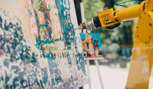 Cuadro pintado por un robot