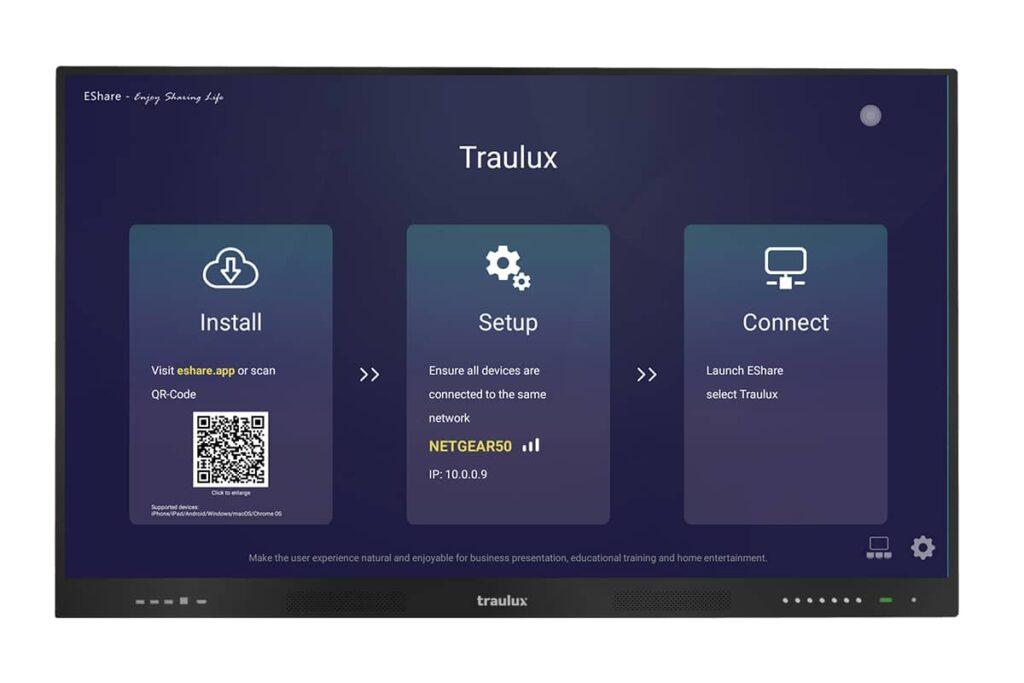 Monitores interactivos autónomos