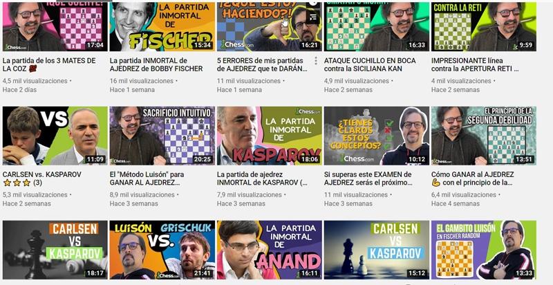 Clases de ajedrez en vídeo