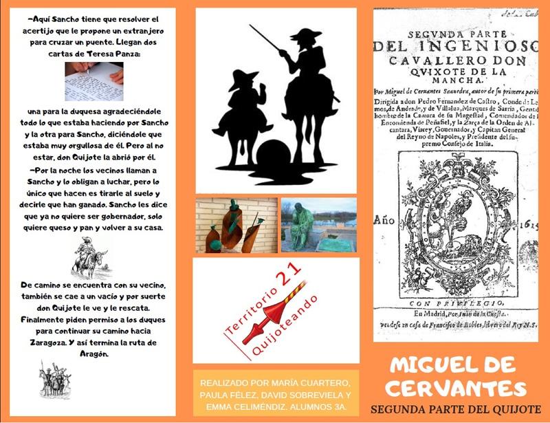 folleto 'Quijoteando'