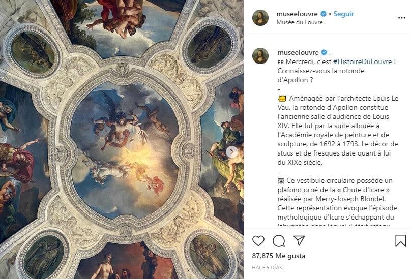 Musée du Louvre cuentas de Instagram educativas
