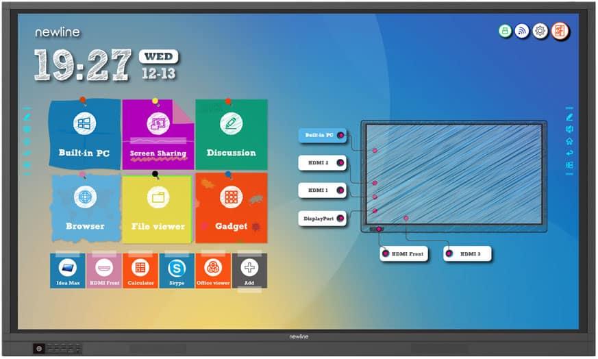 Newline TruTouch mejores monitores interactivos para el aula