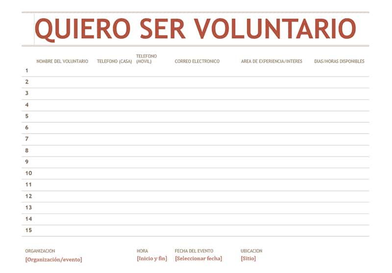 plantilla de word quiero ser voluntario