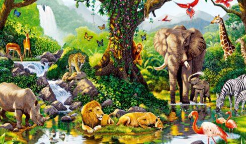 Jungla flora y fauna