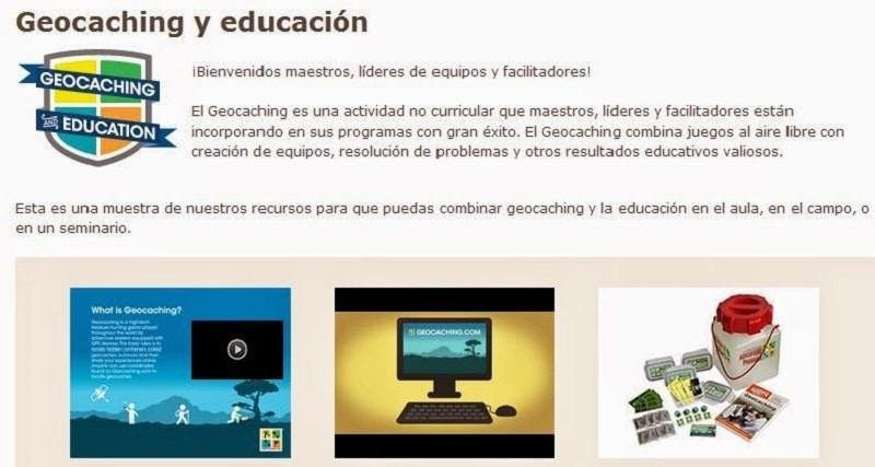 geocaching y educación