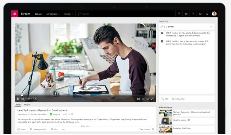 Microsoft Streams Herramientas gratuitas Microsoft