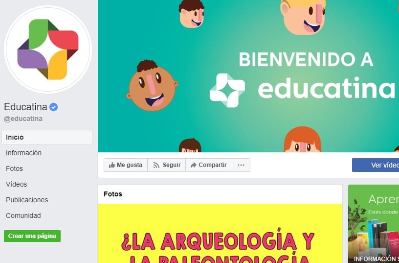 Educatina páginas de facebook educativas