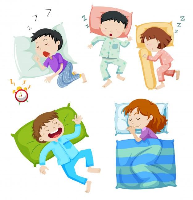 Niños durmiendo dibujo