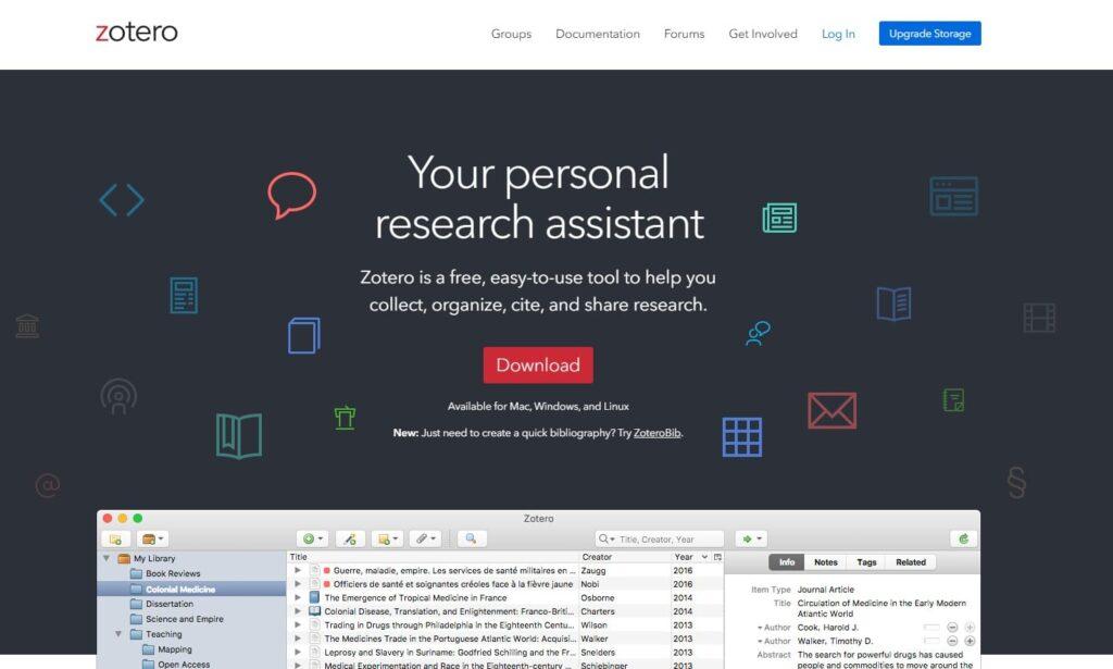 Zotero apps gratuitas para docentes