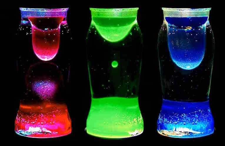 lámpara de lava experimento