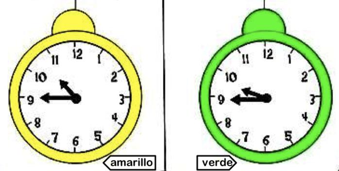 fichas aprender horas