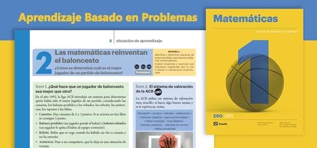 Editorial Casals, matemáticas online para Secundaria basadas en el ABP