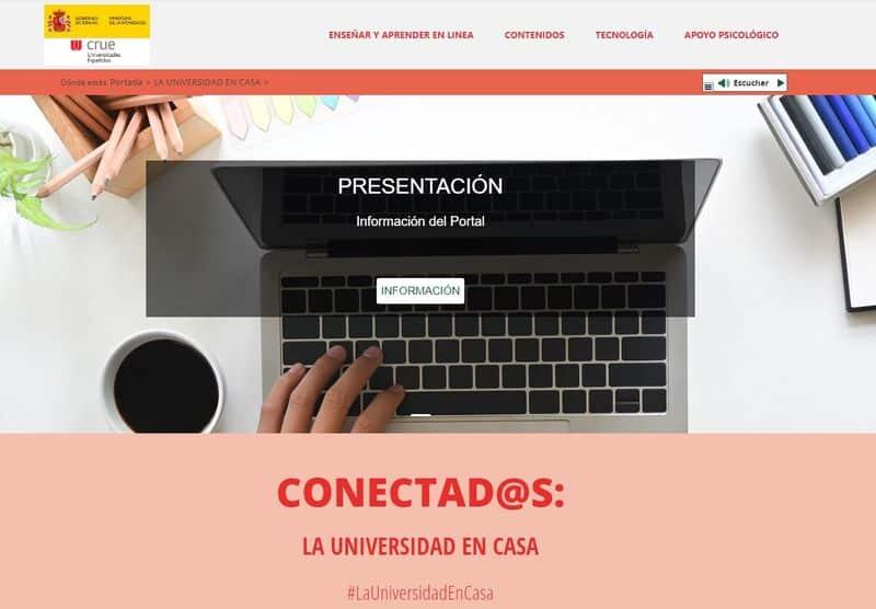Conectad@s: la universidad en casa