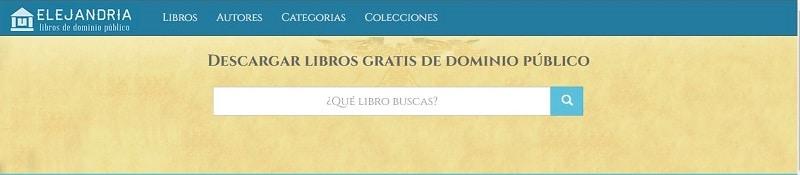 pagina web de elejandria descargar libros gratis