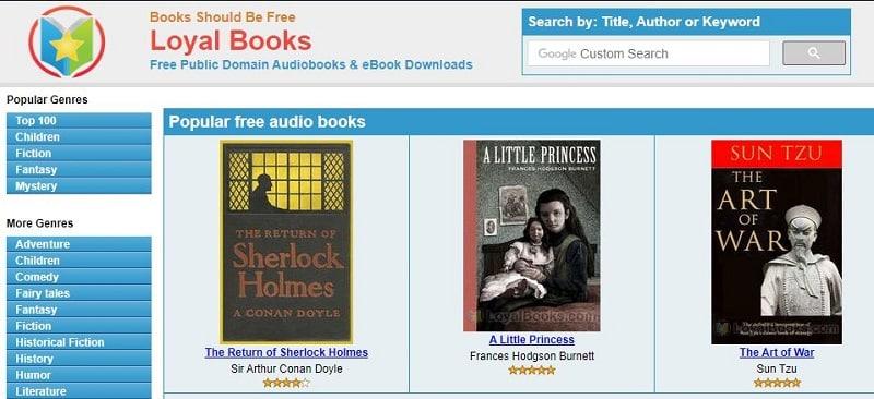 pagina web de loyal books