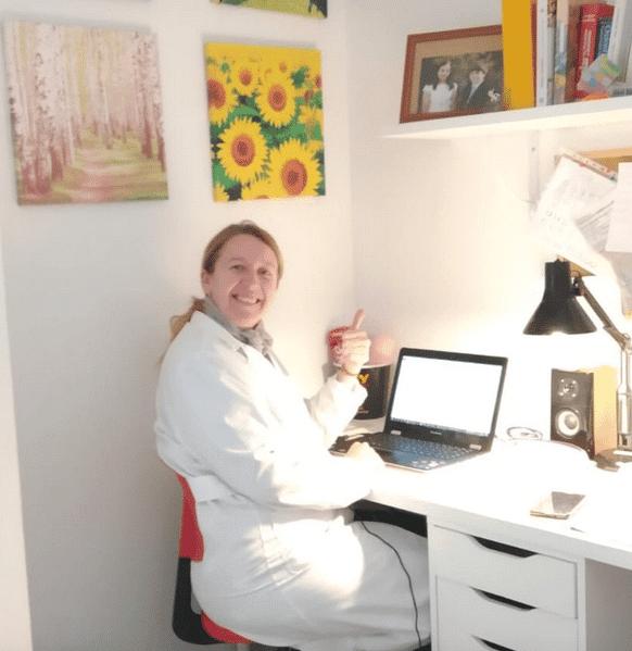 Profesora de El Buen Pastor digitalización de las aulas