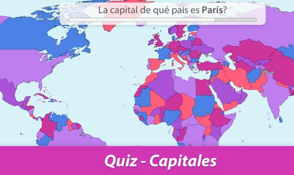 mapa mundial con 214 países