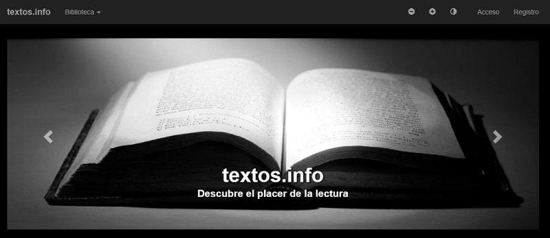 Pagina web de textos.info descargar libros gratis