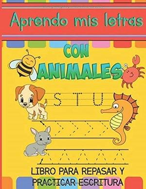 Aprendo mis letras con animales Libros de escritura