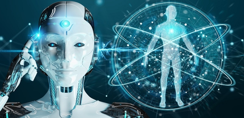 Inteligencia Artificial - robot blanco